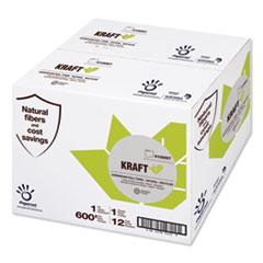 "Papernet® Heavenly Soft Paper Towel, 7.8"" x 600 ft, Brown, 12 Rolls/Carton"