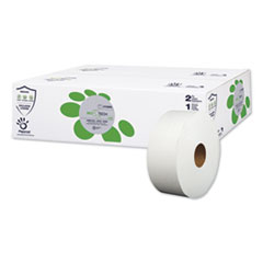 "Papernet® BioTech Toilet Tissue, Septic Safe, 2-Ply, White, 3.3"" x 700 ft, 12 Rolls/Carton"