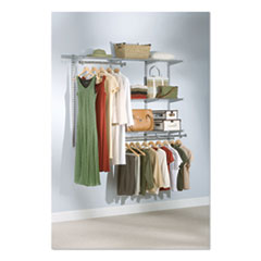 "Rubbermaid® Configurations Custom Closet Starter Kit, 5 Shelves, 36"" to 72""w x 16""d x 47.5""h, Titanium"