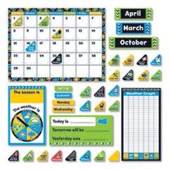 TREND® Bold Strokes Calendar Bulletin Board Set