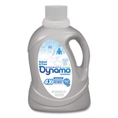 Dynamo® Laundry Detergent Liquid 4X, Naked and Free, Unscented, 60 Loads, 60 oz Bottle, 6/Carton