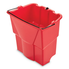 Rubbermaid® Commercial WaveBrake 2.0 Dirty Water Bucket, 18 qt, Plastic, Red
