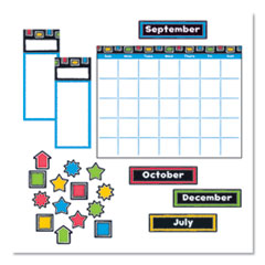 TREND® Bold Strokes Wipe-Off® Calendar Bulletin Board Set