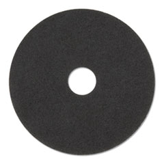 "3M™ Stripper Floor Pads 7200, 14"" Diameter, Black, 5/Carton"