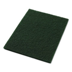 "Americo® Scrubbing Pads, 14"" x 20"", Green, 5/Carton"