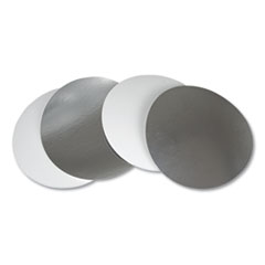 "Durable Packaging Flat Board Lids for 8"" Round Containers, Silver, 500 /Carton"