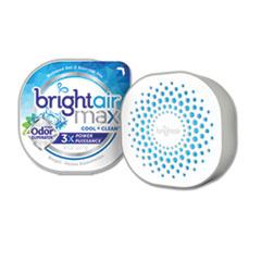 BRIGHT Air® Max Odor Eliminator Air Freshener, Cool and Clean, 8 oz Jar, 6/Carton