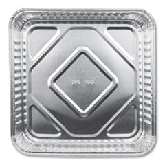 "Durable Packaging Aluminum Square Cake Pans, 8"" x 8"", 500/Carton"