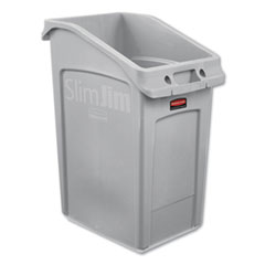 Rubbermaid® Commercial Slim Jim Under-Counter Container, 23 gal, Polyethylene, Gray