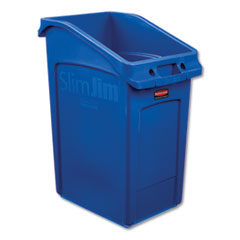Rubbermaid® Commercial Slim Jim Under-Counter Container, 23 gal, Polyethylene, Blue