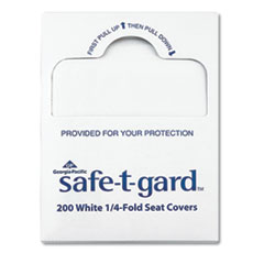 "Georgia Pacific® Professional Seat Covers Safe-T-Gard, 17"" x 14.5"" White, 25/Carton"
