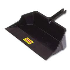 """Rubbermaid® Commercial Jumbo Heavy Duty Dustpan, 22"""" Wide, Plastic, Black"""