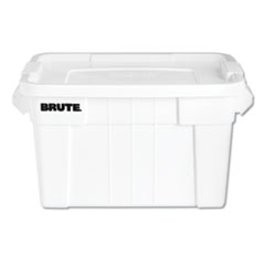 "Rubbermaid® Commercial BRUTE Tote with Lid, 20 gal, 27.9"" x 17.4"" x 15.1"", White"