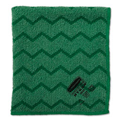 "Rubbermaid® Commercial HYGEN Microfiber Cloth, 16"" x 16"", Green, 6/Carton"