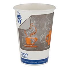 Georgia Pacific® Professional Dixie Ultra Insulair Paper Hot Cup, 16 oz, Coffee, 50 Cups/Sleeve, 20 Sleeves/CT