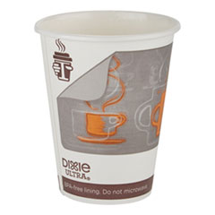 Georgia Pacific® Professional Dixie Ultra Insulair Paper Hot Cup, 12 oz, Coffee, 50 Cups/Sleeve, 20 Sleeves/CT