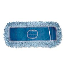 """Boardwalk® Dust Mop Head, Cotton/Synthetic Blend, 48"""" x 5"""", Blue"""