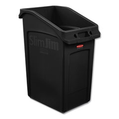 Rubbermaid® Commercial Slim Jim Under-Counter Container, 23 gal, Polyethylene, Black