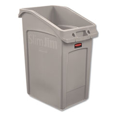 Rubbermaid® Commercial Slim Jim Under-Counter Container, 23 gal, Polyethylene, Beige