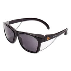 KleenGuard™ Maverick Safety Glasses, Black, Polycarbonate Frame, Smoke Lens