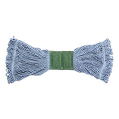 "Rubbermaid® Commercial Scrubbing Wet Mop, Cotton/Synthetic Blend, 19"" x 6"", Blue"