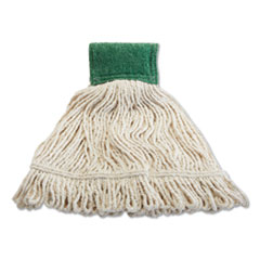 """Rubbermaid® Commercial Scrubbing Wet Mop, Cotton/Synthetic Blend, 19"""" x 6"""", White"""