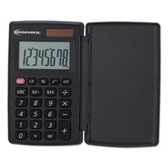 Innovera® 15921 Pocket Calculator with Hard Shell Flip Cover, 8-Digit, LCD