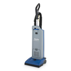 "Clarke® CarpetMaster 12"" Single-Motor Upright Vacuum, 11.5"" Cleaning Path, Gray/Blue"