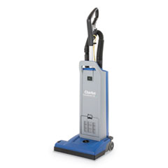 "Clarke® CarpetMaster 15"" Single-Motor Upright Vacuum, 14.5"" Cleaning Path, Gray/Blue"