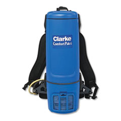 "Clarke® Comfort Pak 6 Quart Backpack Vacuum., 11.5"" Cleaning Path, Blue"