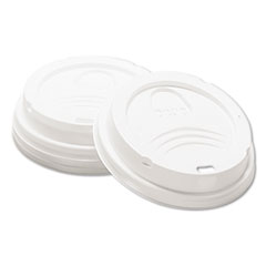 Dixie® Drink-Thru Lid, Fits 8oz Hot Drink Cups, White, 1000/Carton