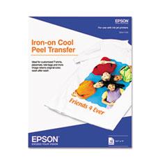 Epson® Iron-On Inkjet Transfer, 8-1/2 x 11, White, 10 Sheets/Pack
