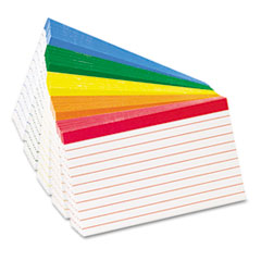 Color Coded Ruled Index Cards, 3 x 5, Assorted Colors, 100/Pack