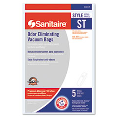 Sanitaire® Style ST Disposable Vacuum Bags for SC600 and SC800 Series, 5/Pack