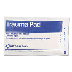 "First Aid Only™ SmartCompliance Trauma Pad, 5"" x 9"""