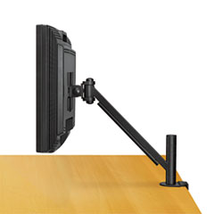 Fellowes® Desk-Mount Arm for Flat Panel Monitor, 4.75w x 14.5d x 24h, Black