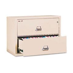 Two-Drawer Lateral File, 37 1/2w x 22 1/8d, UL Listed 350, Ltr/Legal, Parchment
