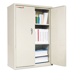Storage Cabinet, 36w x 19-1/4d x 44h, UL Listed 350 for Fire, Parchment