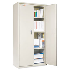 FireKing® Storage Cabinet, 36w x 19 1/4d x 72h, UL Listed 350°, Parchment