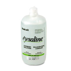 Honeywell Fendall Eyesaline Eyewash Refill Bottles for Single or Double Eyewash Wall Stations. Thumbnail