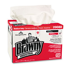 Georgia Pacific® Professional Brawny Industrial Premium DRC Wipes, Paper, 12-1/2 x 16-3/4, White, 152/Box