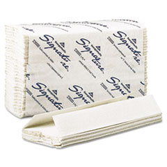 Signature 2 Ply C-Fold Paper Towels, 10 1/10 x 13 1/5, White, 120/Pk, 12 Pks/Ct