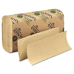 Multifold Paper Towel, 9 1/5 x 9 2/5, Brown, 250/Pack, 16 Packs/Carton