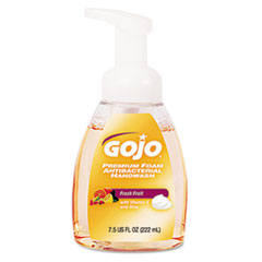 GOJO® Premium Foam Antibacterial Hand Wash, Fresh Fruit Scent, 7.5 oz Pump, 6/Carton