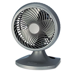 "Holmes® Blizzard 9"" Three-Speed Oscillating Table/Wall Fan, Charcoal"