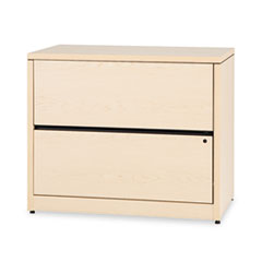 HON® 10500 Series Two-Drawer Lateral File, 36w x 20d x 29-1/2h, Natural Maple