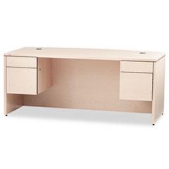 HON® 10500 Series™ Bow Front Double Pedestal Desk Thumbnail