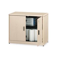 series locking storage cabinet 36w x 20d x 29 12h natural - Locking Storage Cabinet