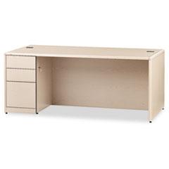 HON® 10700 Series™ Single Pedestal Desk with Full-Height Pedestal on Left Thumbnail