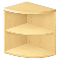 HON® Valido Series Two-Shelf End Cap Bookshelf, 24w x 24d x 29-1/2h, Natural Maple